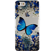 Недорогие -Для яблока iphone 7 7 плюс 6s 6 плюс se 5s 5 крышка корпуса бабочка падение клей лак высокое качество тпу материал чехол для телефона
