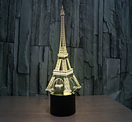 cheap -Tower 3 d Lamp Creative Visual Stereo Lamp The  Touch Lamps  Projection Lamp