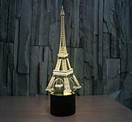 Недорогие -Башня 3 d лампа творческая визуальная стерео лампа сенсорные лампы проекционная лампа
