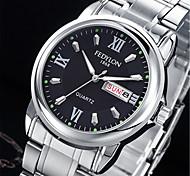 Мужской Модные часы Китайский Кварцевый Календарь / сплав Группа Повседневная Серебристый металл