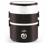 Недорогие -Три слоя мини рисоварка приготовления нержавеющей стали электрическое отопление обед коробка