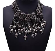 Недорогие -Жен. Прочее Мода Euramerican Заявление ожерелья Бижутерия Синтетические драгоценные камни Сплав Заявление ожерелья , Для вечеринок