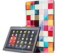 Cubierta de la caja de la PU para el lenovo tab2 tab 2 a10-30 a10-70 x70f con el protector de la pantalla