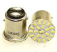 Недорогие -Sencart 2 x 1157 ba15d p21 / 5w 22x3014smd светодиодные фонари индикатор автомобиля на заднем сиденье автомобиля парковочная лампа