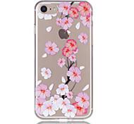 Недорогие -Для яблока iphone 7 7 плюс 6s 6 плюс чехол чехол персик цветение рельеф лак tpu материал не затухает корпус телефона
