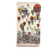 cheap -Case for Apple iPhone 7 7 Plus iPhone 6s 6 Plus iPhone SE 5s 5c 5 iPhone 4s 4 Case Cover The Balloon Pattern PU Leather Cases