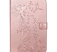 cheap -Case For Samsung Galaxy Tab A 9.7 Tab A 8.0 Card Holder Wallet with Stand Flip Embossed Full Body Cases Cat Butterfly Sexy Lady Hard PU