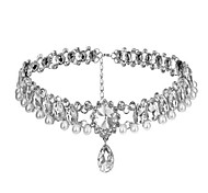 Classic/Traditional Lolita Necklace Sparkle & Shine Silver Lolita Accessories Necklace For Artificial Gemstones