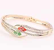 cheap -Women's Cuff Bracelet - Rhinestone Heart Vintage, Natural, Fashion Bracelet Light Purple / Red / Green For Wedding / Party / Anniversary