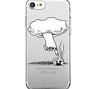 Для iphone 7 плюс 7 чехол для крышки экологически чистый мультфильм прозрачный узор задняя крышка чехол мультяшное слово / фраза soft tpu