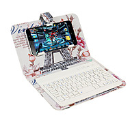 Недорогие -Кейс для Назначение Apple iPhone 7 Plus iPhone 7 со стендом с клавиатурой Флип С узором Чехол Эйфелева башня Твердый Кожа PU для iPhone 7