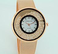 baratos -Mulheres Quartzo Relógios Femininos com Cristais imitação de diamante Lega Banda Casual Fashion Prata Dourada Ouro Rose