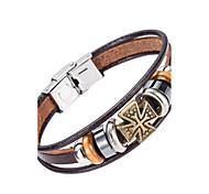 Недорогие -Муж. Кожаные браслеты Бижутерия Природа Мода бижутерия Кожа Сплав Бижутерия Назначение Особые случаи Спорт