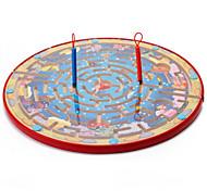 Недорогие -Настольные игры Магнитный лабиринт Игрушки Большой размер Круглый Дерево Куски Для детей Подарок