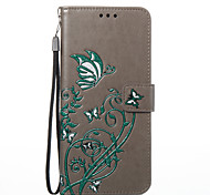 cheap -Case For Samsung Galaxy S8 Plus S8 Card Holder Wallet with Stand Flip Pattern Embossed Full Body Cases Butterfly Hard PU Leather for S8