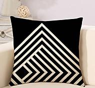 cheap -1 Pcs Black And White Grid Stripe Pattern Pillow Cover Classic Cushion Cover Pillowcase