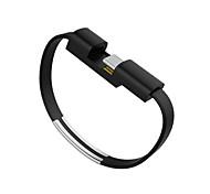 Недорогие -USB 2.0 Type-C Адаптер USB-кабеля Компактность Плоские Кабель Назначение Samsung Huawei LG Lenovo Xiaomi HTC 22 cm Пластик ПВХ