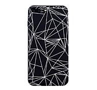Недорогие -Кейс для Назначение Apple iPhone X iPhone 8 С узором Кейс на заднюю панель Полосы / волосы Плитка Геометрический рисунок Мягкий ТПУ для