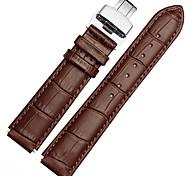 Недорогие -Для часов huawei 18mm / 22mm mstre ремешок для часов ремешок из цельной цветной кожаной бабочки