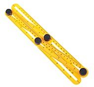 Four-Sided Ruler Measuring Instrument Template Angle-izer Tool Mechanism Slides 25cm Four Folding Plastic Ruler