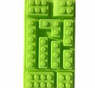 Random Color 10 Holes Brick Blocks Shaped Rectangular DIY Chocolate Silicone Mold Ice Cube Tray Cake Tools Fondant Moulds
