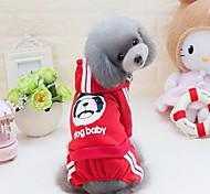 Недорогие -Собака Толстовка Толстовки Комбинезоны Одежда для собак Очаровательный На каждый день Мода Животные Серый Желтый Красный Синий Розовый