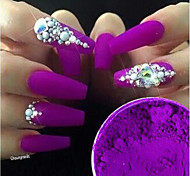 1box Chic & Modern Nail Glitter Glamour Acrylic Powder Grape Nail Art Design 0.001kg/box Nail Art Decoration