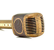 cheap -JY-51 Retro Wood Color Style Magic Karaoke Microphone Wireless Bluetooth Mic Speaker Song Recorder Music KTV