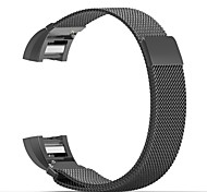 Für fitbit charge 2 band milanese loop edelstahl armband smart watch strap connector
