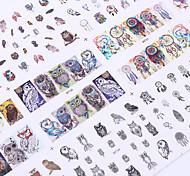 cheap -1 Big Sheet Owl Dream Catcher Nail Water Decal 12 Patterns Mix Manicure Nail Art Transfer Sticke