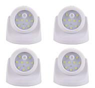 cheap -4pcs LED Night Light Battery Smart Human Body Sensor