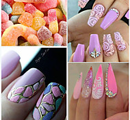 0.2g/bottle Summer Fashion Sweet Candy Color Glitter Sugar Coating Powder Nail Art Shining Pigment Beauty Holographic Sweet DIY Design Decoration TY