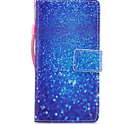 For Huawei P8 Lite (2017) P10 Case Cover Marble Blue Sand Pattern Painted PU Skin Material Card Stent Wallet Phone Case P10 Plus P10 Lite