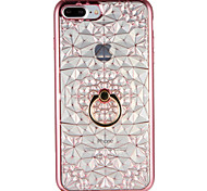 cheap -Case for Apple iPhone 7 7Plus Geometric Pattern Ring Holder Soft TPU Back Cover for iPhone 6s Plus e 6 Plus  6s  6