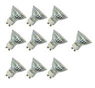abordables -10pcs 3W 280-420lm GU10 Focos LED MR16 60 Cuentas LED SMD 3528 Blanco Cálido Blanco