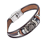 cheap -Men's Leather Leather Bracelet - Natural Fashion Irregular Brown Bracelet For Special Occasion Gift Sports