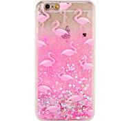 Étui pour apple iphone 7 7 plus flamant brillant brillant modèle fluide liquide dur pc 6s plus 6 plus 6s 6