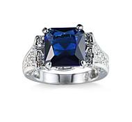 Women's Ring Cubic Zirconia Unique Design Fashion Euramerican Costume Jewelry Zircon Alloy Jewelry Jewelry For Party Anniversary Birthday