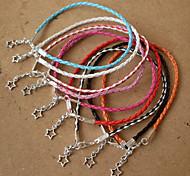 Women's Leather Bracelet Jewelry Bohemian Handmade Costume Jewelry leather Alloy Star Jewelry For Dailywear Sports