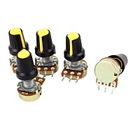 cheap -5 Piece 10K Ohm Linear Taper Rotary Potentiometer  B10K
