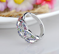 cheap -Women's Rhinestone / Alloy Ring - Fashion / Euramerican Fuchsia / Blue / Assorted Color Ring For Birthday / Event / Party