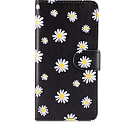 For Samsung Galaxy S8 Plus S7 Edge Case Cover The Small White Flowers Pattern PU Leather Cases for S6 Edge Plus S5 Mini S4 S3