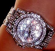 Women's Couple's Dress Watch Fashion Watch Wrist watch Bracelet Watch Unique Creative Watch Simulated Diamond Watch Pave Watch Quartz