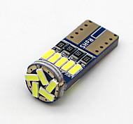 abordables -SO.K 4pcs T10 Coche Bombillas 3W W SMD 4014 120lm lm LED Luz de la cola ForUniversal