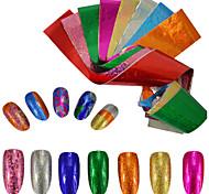 9colors/set Nail Art 3D Sticker Starry Effect Nail Glitter Foil Sticker Nail Art Transfer Glue Foil Decals Nail Besuty Glitter Decoration