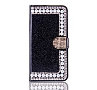For iPhone X iPhone 8 Case Cover Wallet Card Holder Rhinestone with Stand Flip Full Body Case Hard for Apple iPhone X iPhone 8 Plus