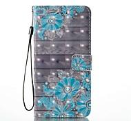 Недорогие -Кейс для Назначение Apple iPhone 8 iPhone 8 Plus Бумажник для карт Кошелек со стендом Флип С узором Чехол Цветы Твердый Кожа PU для