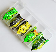 5pcs Boxed Frogs Fishing Lure Hooks Artificial Bait Simulation Ray Topwater Lure Catching Tool