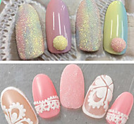 0.2g/bottle Summer Fashion Nail Art Beauty Holographic Glitter Sugar Coating Powder Colorful Sweet Design Shining Pigment TY6-20