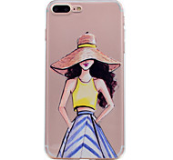 For iPhone 7 Plus 7 Phone Case Fashion Sexy Girl Pattern Soft TPU Material Phone Case 6S Plus 6S 6 SE 5S 5